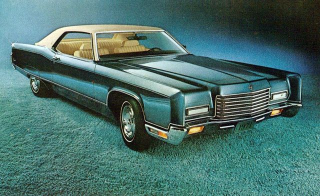 70s cars 1971 Lincoln Continental Coupe