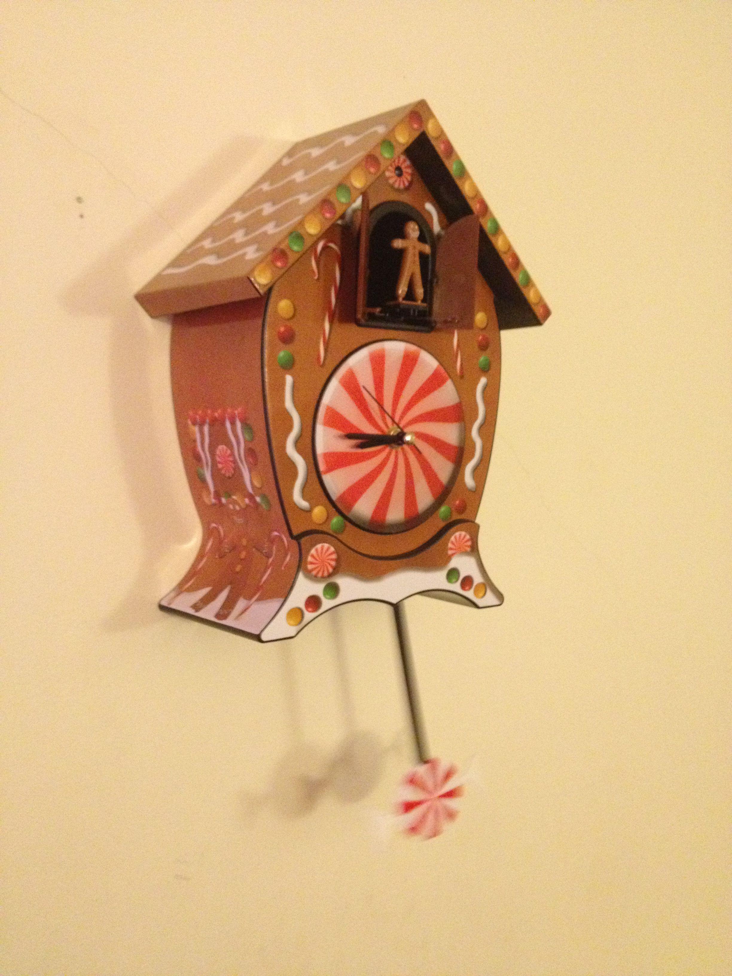 Gingerbread man cuckoo clock from CVS Christmas