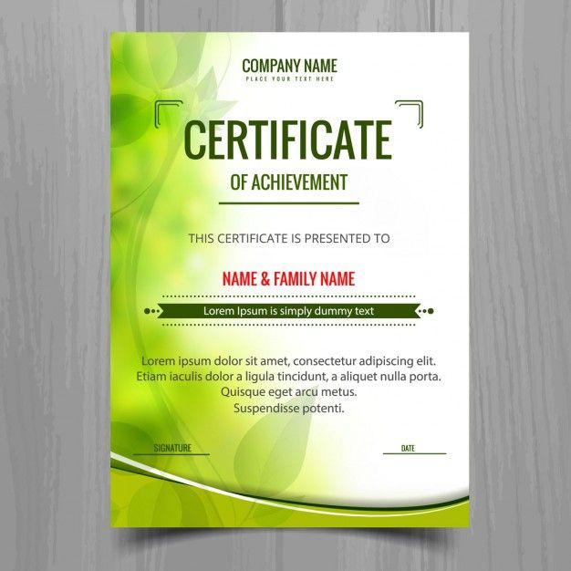 Green shiny certificate template Free Vector Vector - Awards - certificate designs free