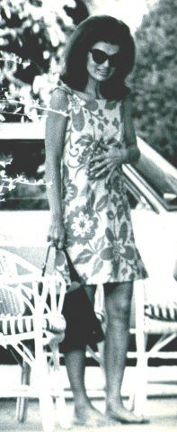 thosekennedys: Jacqueline Kennedy Onassis in a Pucci dress