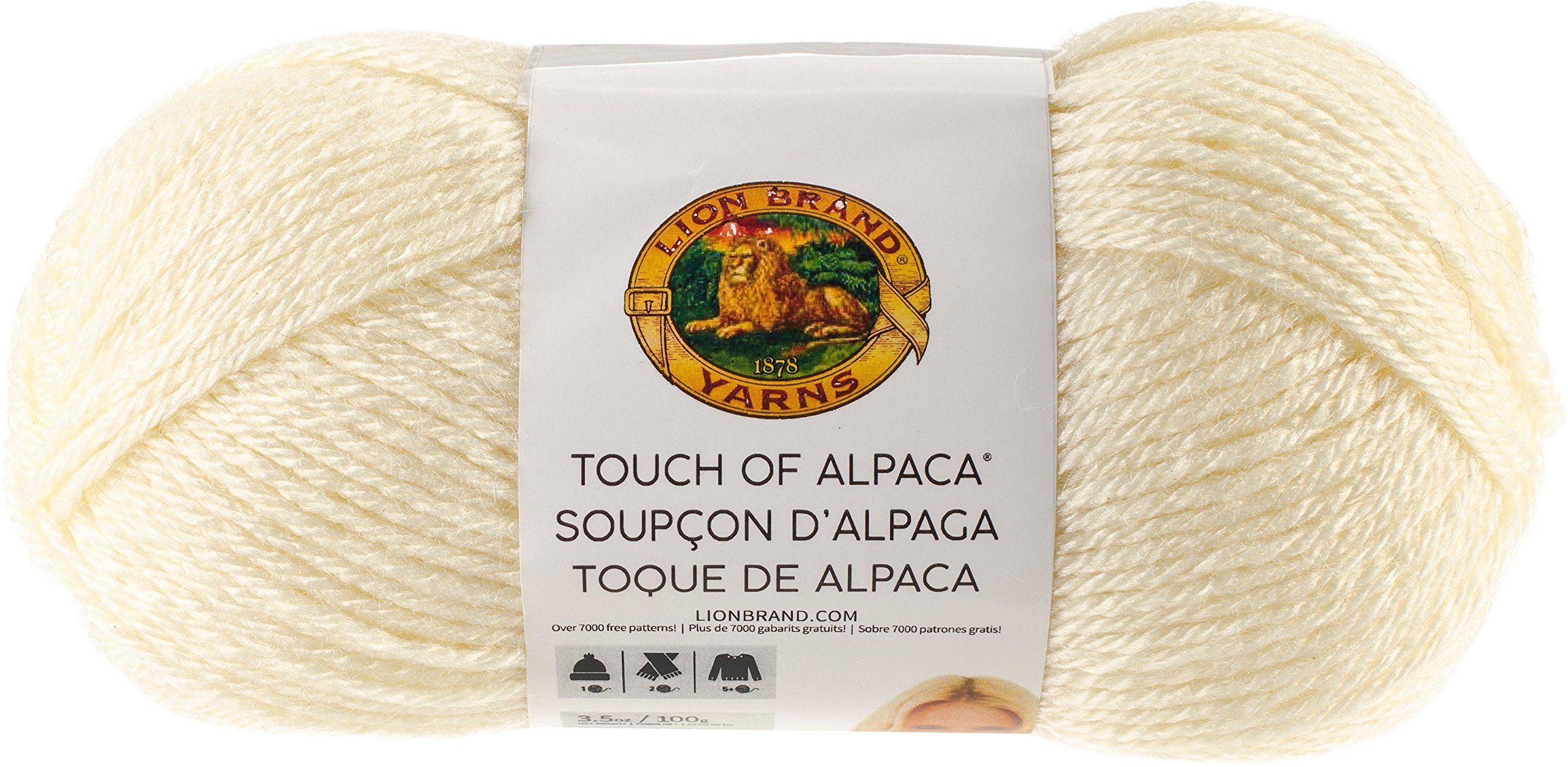 Lion Brand Touch Of Alpaca Yarn-Cream 3 Pack
