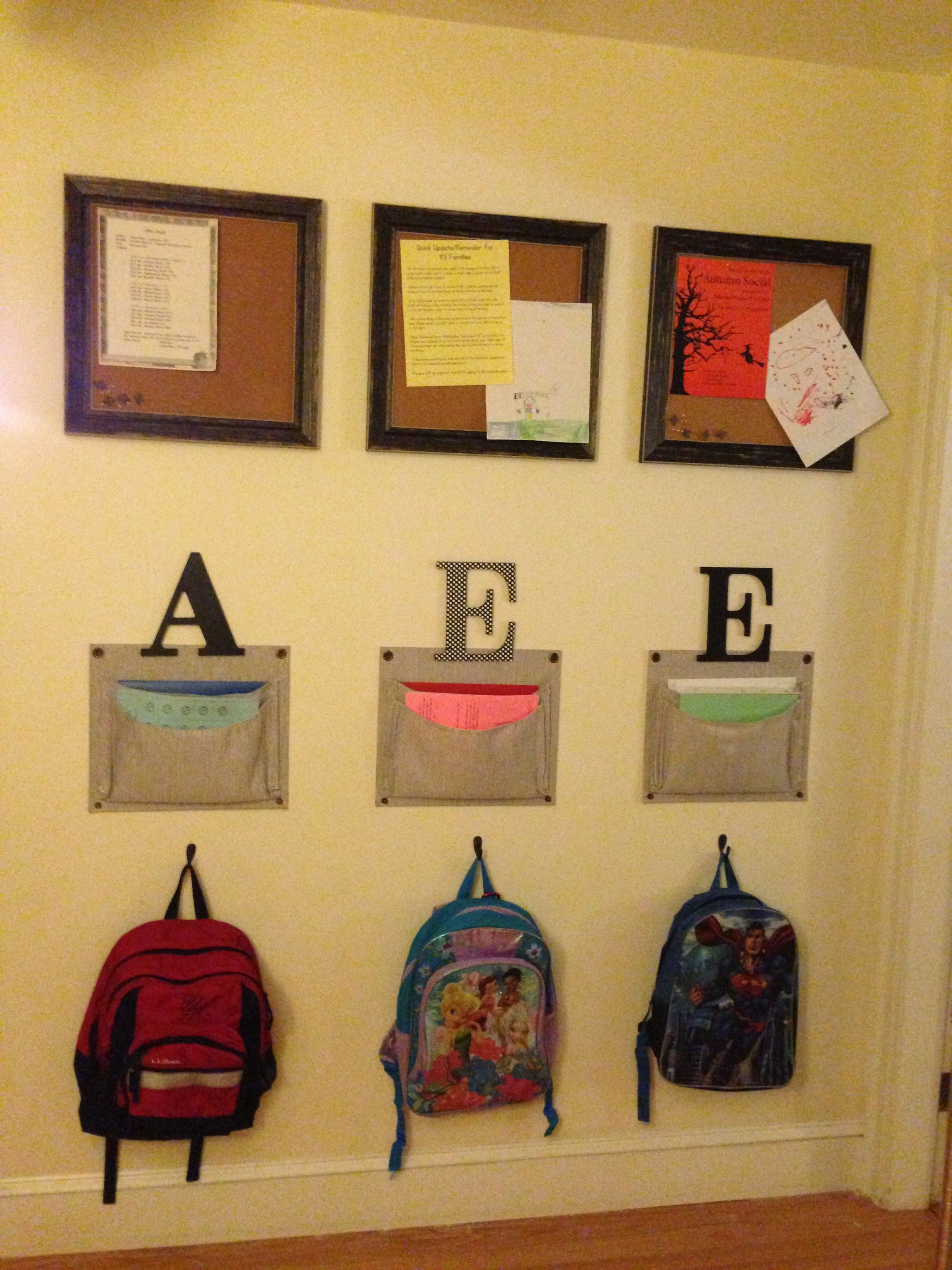 Kids School Organization Wall | My Own Projects Around the House ...