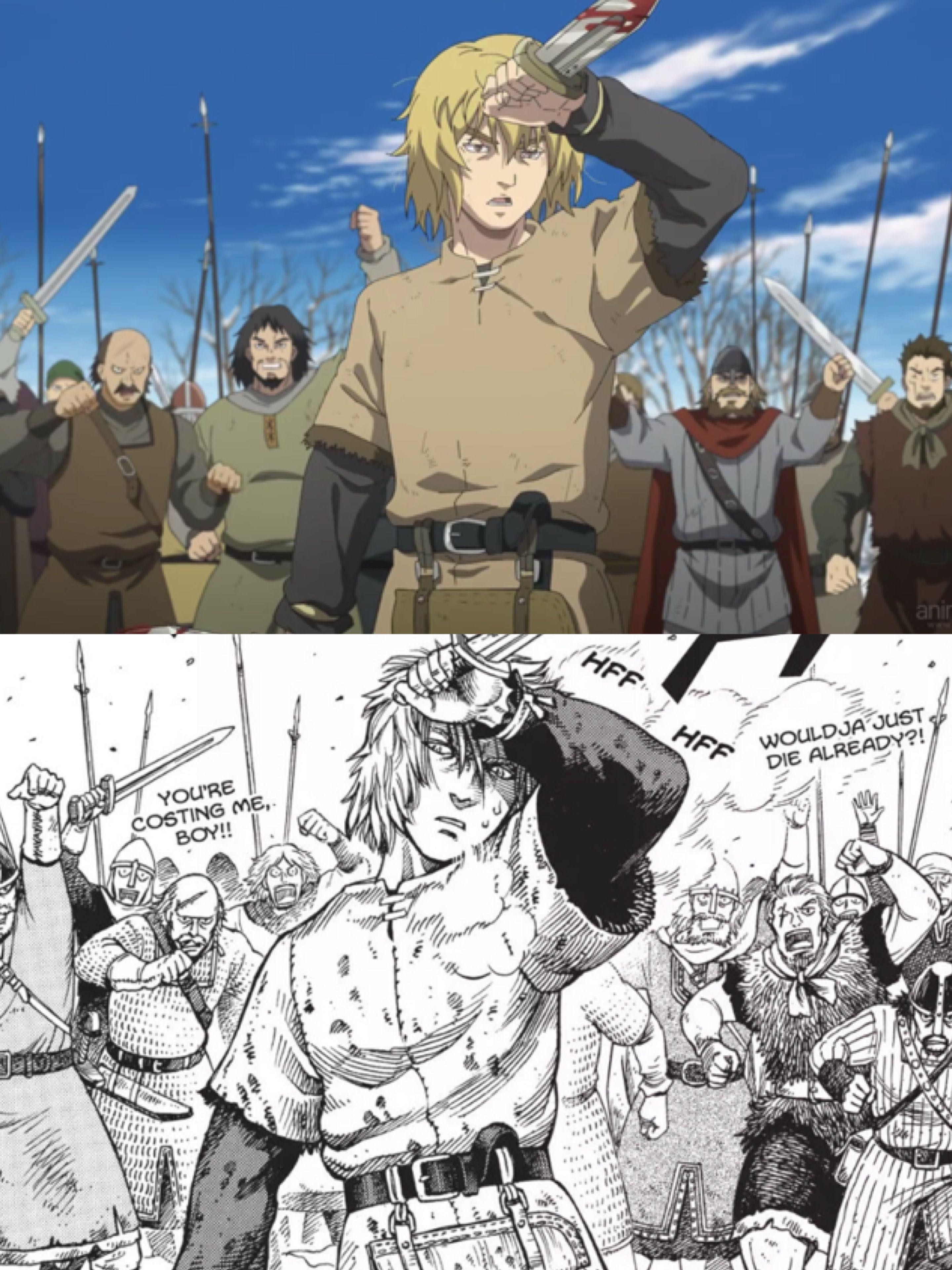 Vinland Saga Episode 18 : vinland, episode, Thorfinn, Comparison, Vinland, Manga,, Saga,