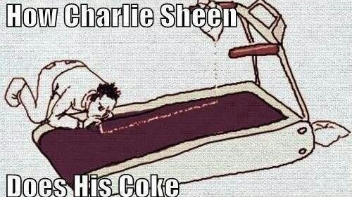 How Charlie Sheen does his coke!  Omg!