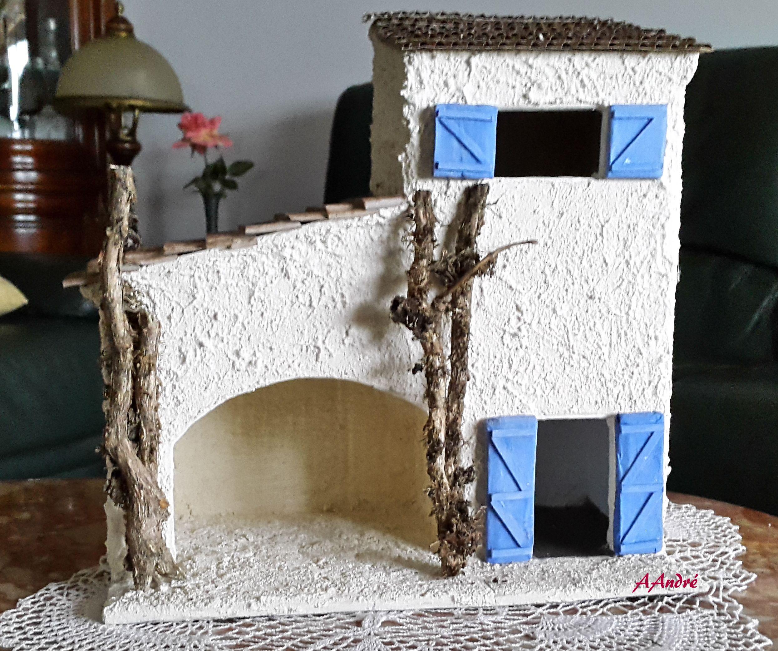 maison de village pour la cr che de no l cartonnage carton ondule pinterest noel and. Black Bedroom Furniture Sets. Home Design Ideas