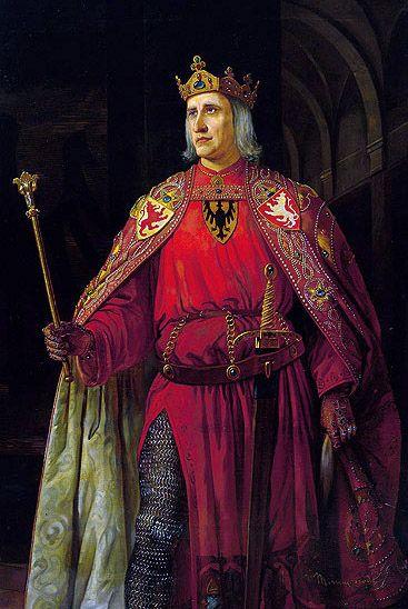 Emperor Rudolf I of Habsburg, Holy Roman Emperor, King of Bohemia, Archduke of Austria.