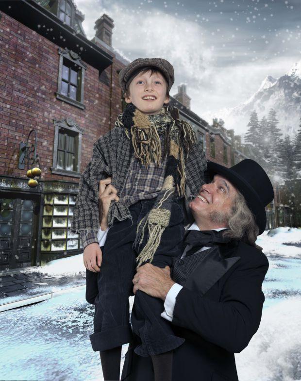 Tiny Tim Christmas Carol | Larry Adams stars as Scrooge and Killian ...
