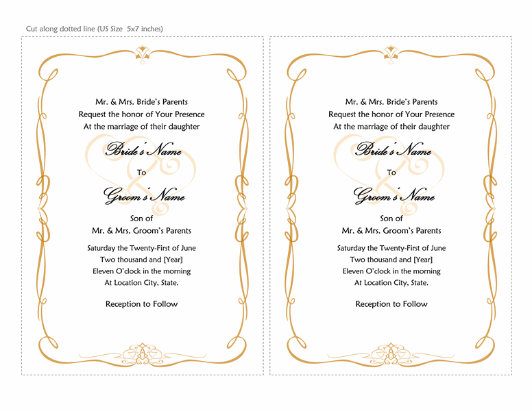 Wedding Invitation Template For Word Inspirational Wedding Invitation T Blank Wedding Invitation Templates Wedding Invitation Templates Wedding Invitation Text