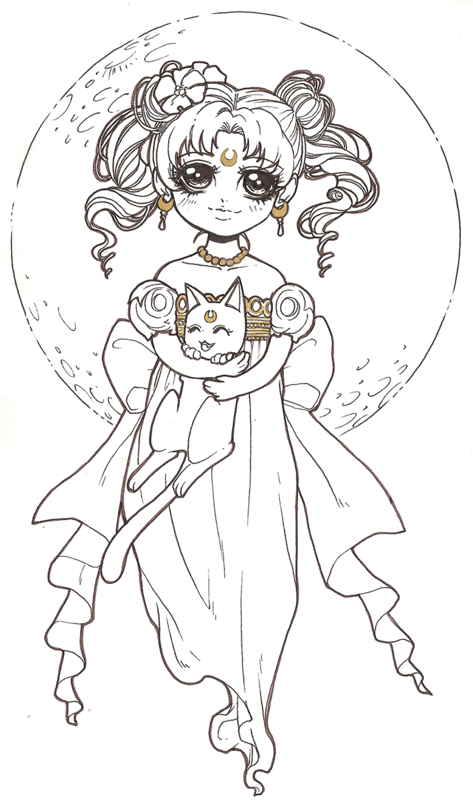 coloriage de Dar Chan Sailor Moon serenity