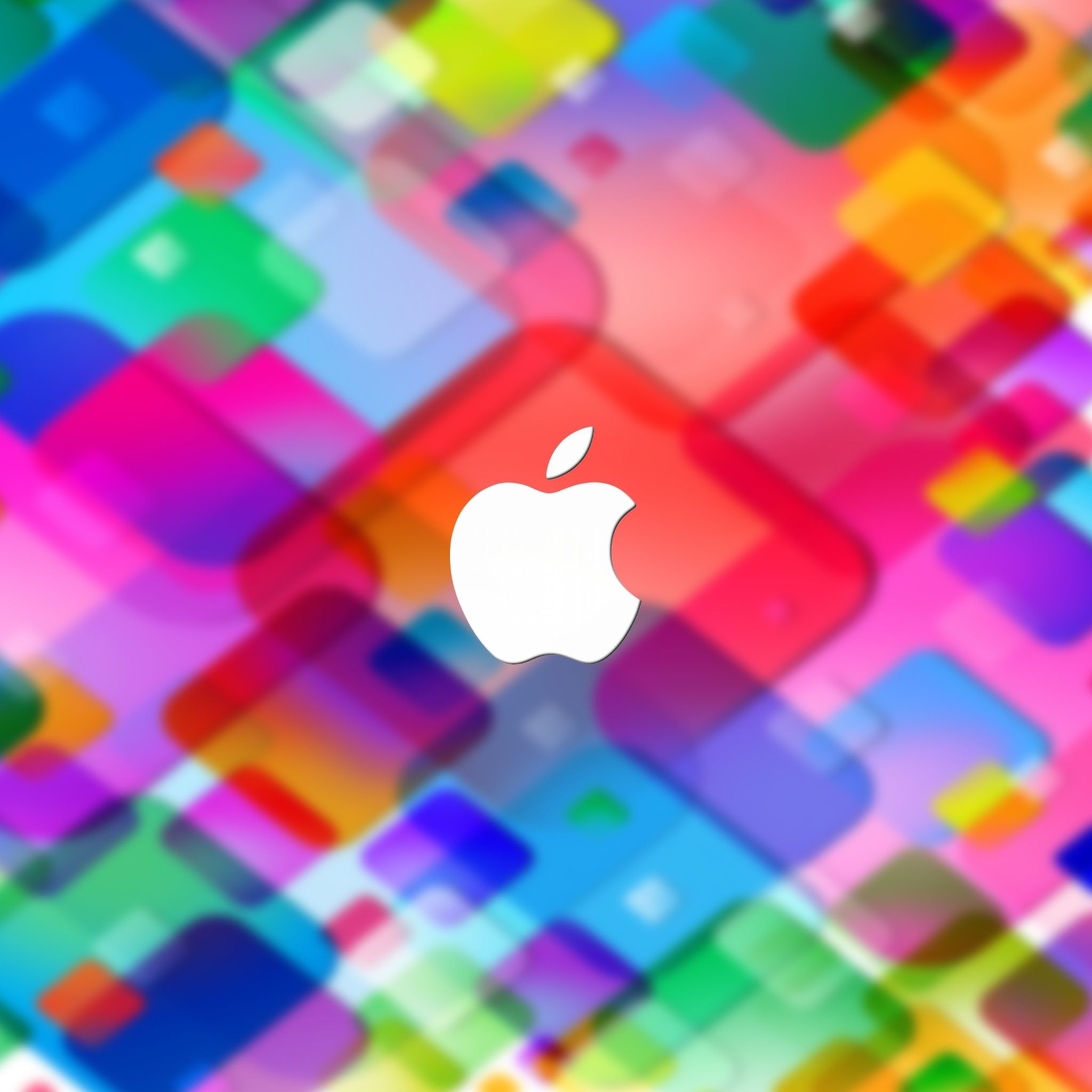 Apple Logo Blurred Colorful Squares iPad Wallpaper HD | Apple iPad ...