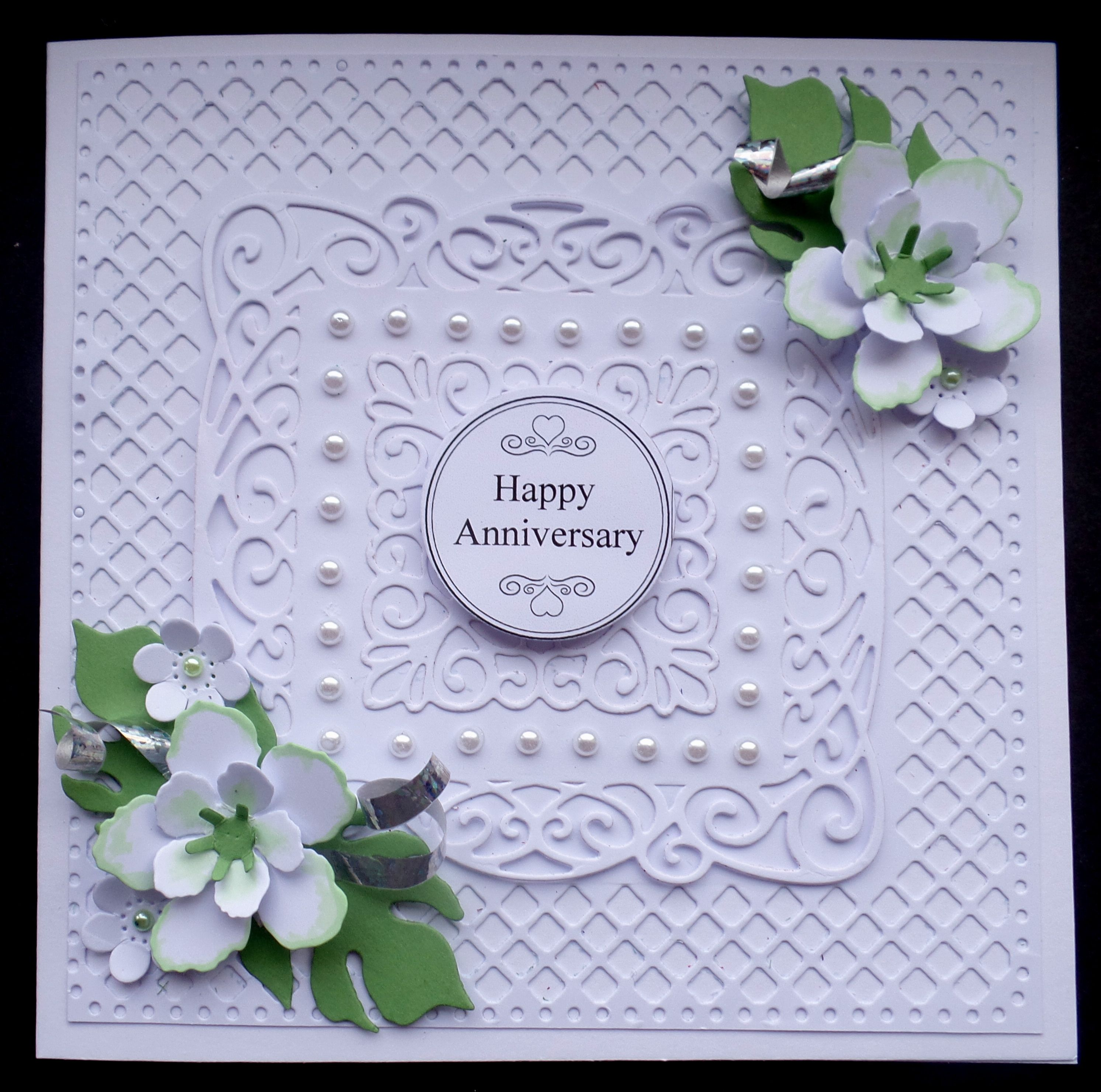 S123 hand made anniversary card using botanical blooms with sue card ideas s123 hand made anniversary card using negle Image collections