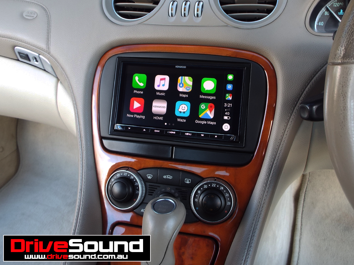 Mercedes Benz SL500 with Apple CarPlay installed by