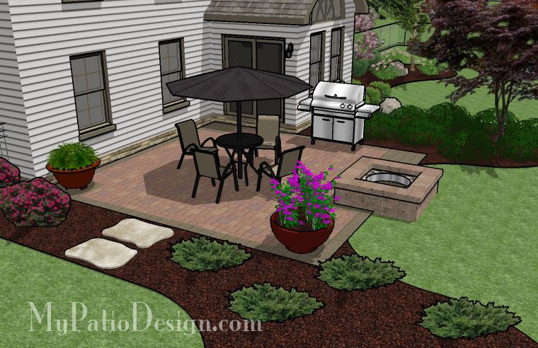 DIY Paver Patio Design With Seat Wall   300 Sq. Ft | Patios, Yards And  Squares