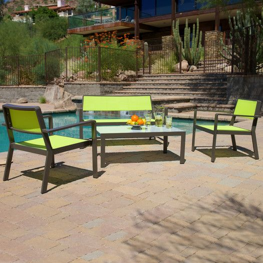 RST Brands Sol Sling 4 Piece Seating Group