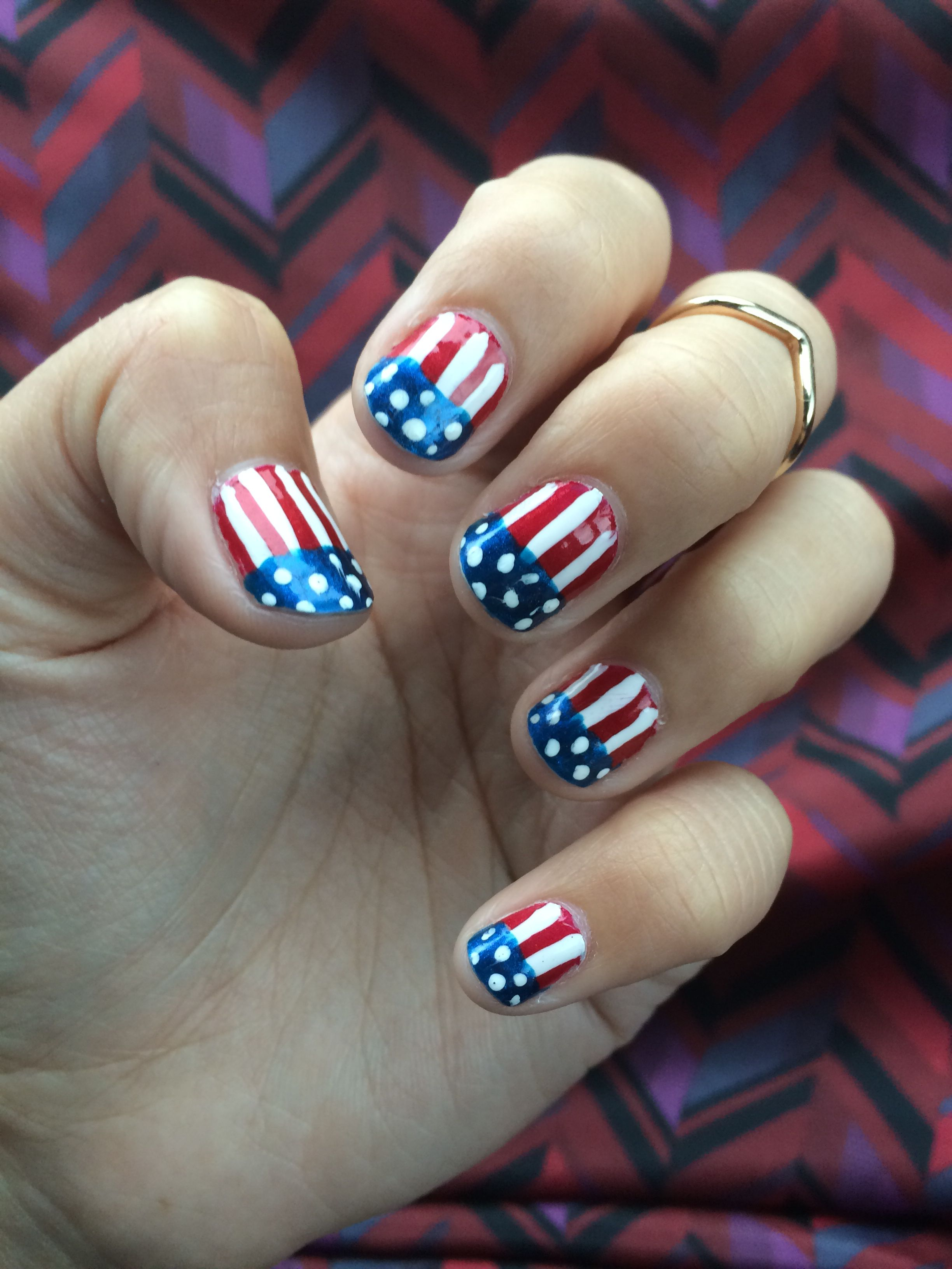 Team USA/America Nail Art For The World Cup!