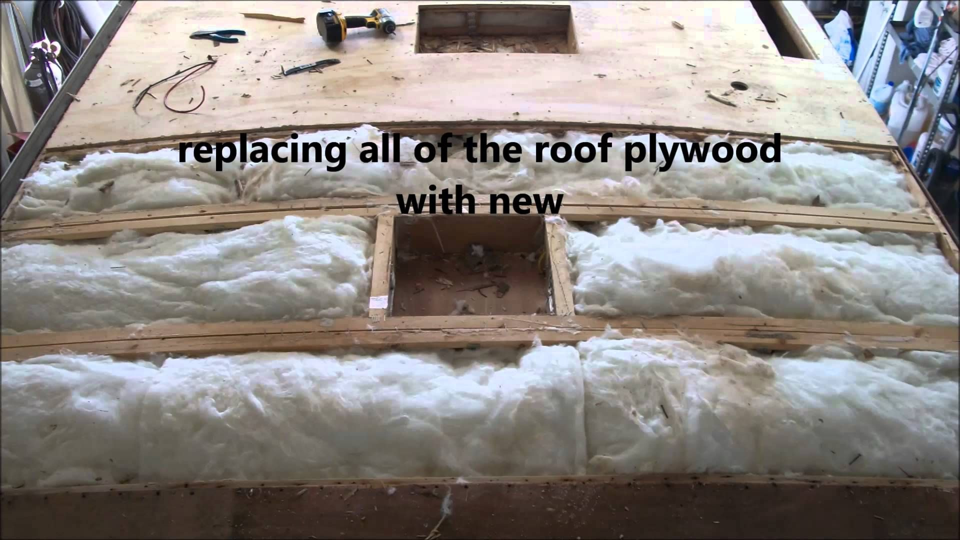 Replacing A Rubber Roof On An Rv Remodeled Campers Camper Renovation Roof