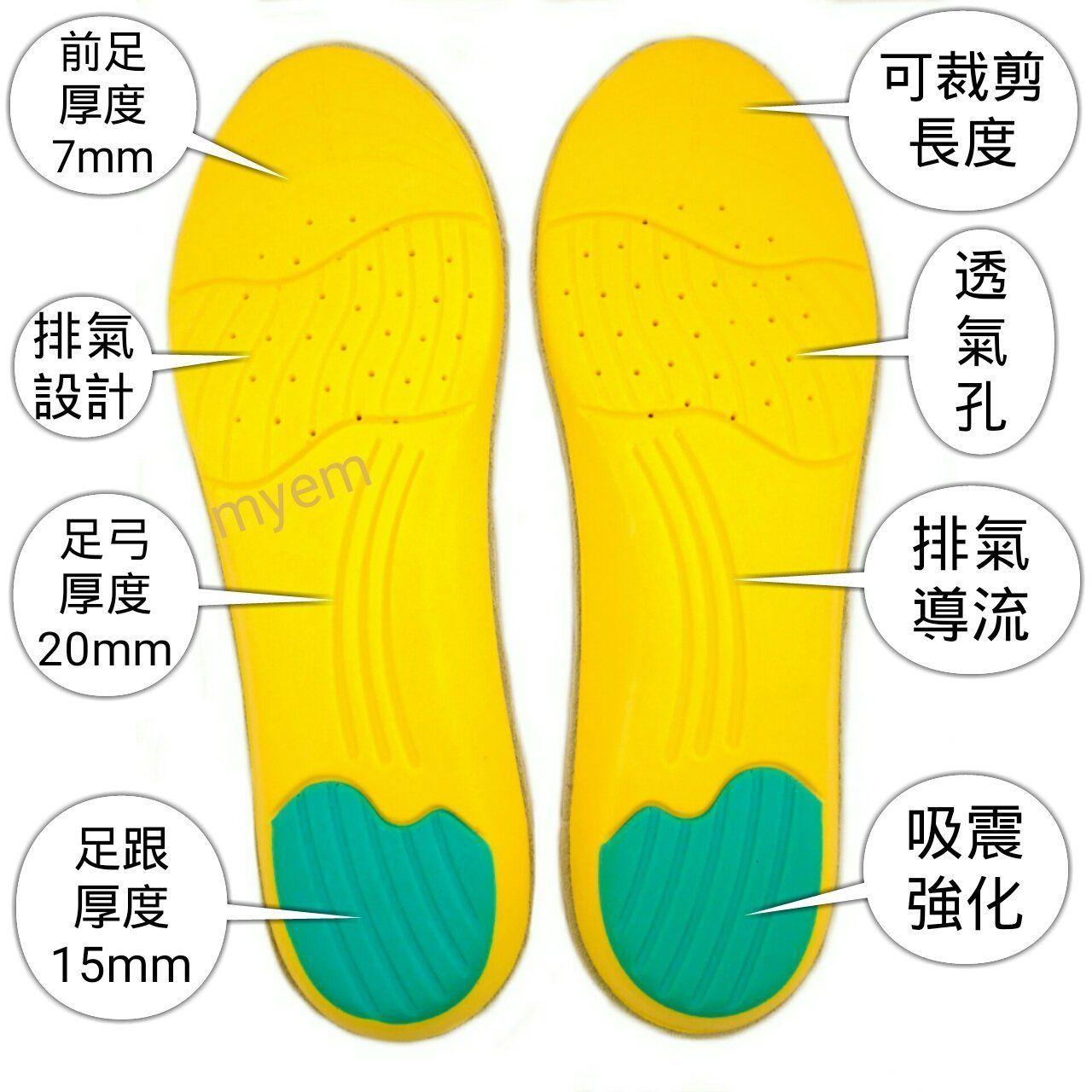 15mm PU柔軟彈力氣墊鞋墊 牛皮 舊LANEW鞋墊替換 Timberland Red Wing 鞋墊換新 運動鞋墊-Yahoo奇摩拍賣