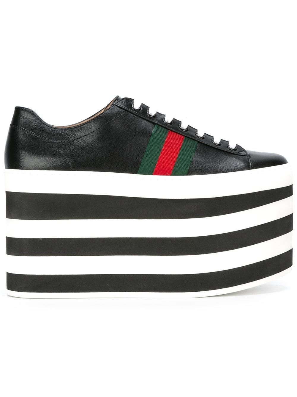 check out ce1f3 0de16 Gucci zapatillas bajas con plataforma plana
