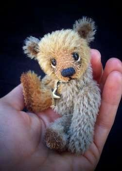 """ARIANI - The tiniest, cutest 4 IN mini bear (pattern also available).  **From the owner: """"ALL of these items can be purchased separately in my store, or you can purchase the complete ARIANI kit: http://www.etsy.com/listing/94196469/choose-your-own-fur-complete-one-colour ) """"  ** http://www.etsy.com/listing/58844554/ariani-the-tiniest-cutest-4-in-mini-bear#"""