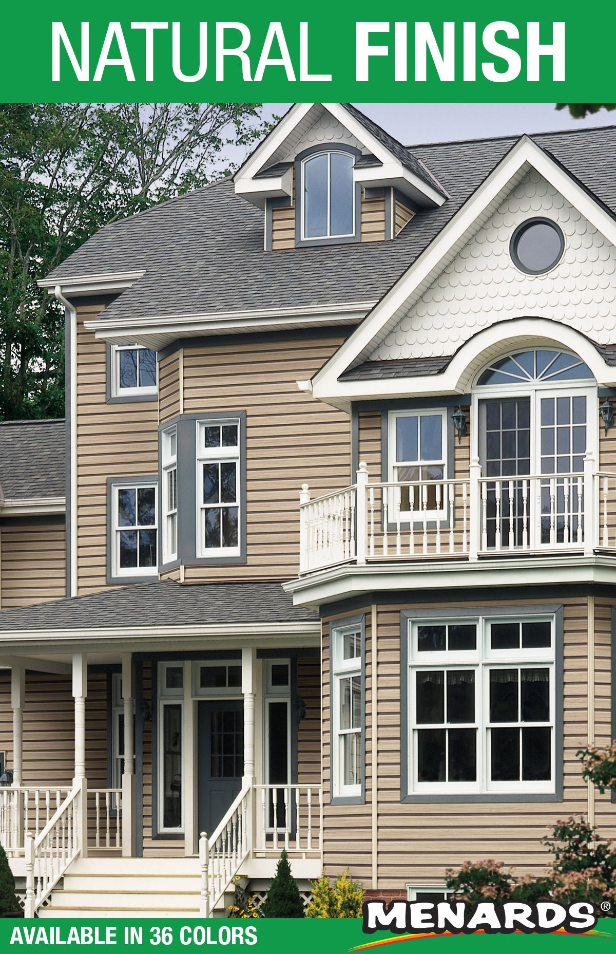 Monogram 46 Premium Double 4 Vinyl Siding Offers A Natural Looking Finish And Great Durability Vinyl Siding House Styles Curb Appeal