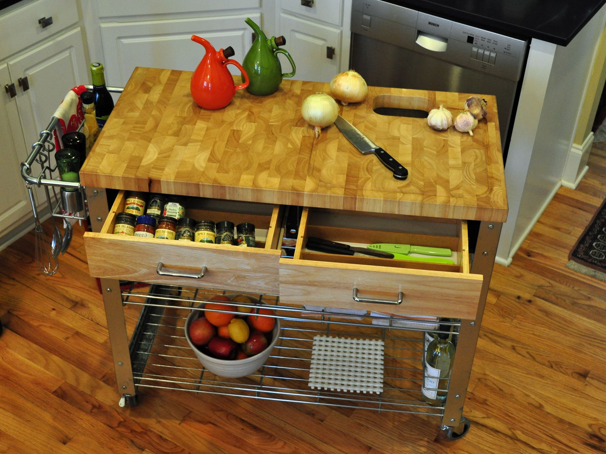 Counter Space Small Kitchen Storage Berkley Kitchen Island With Wood Top Storage Work Stations And