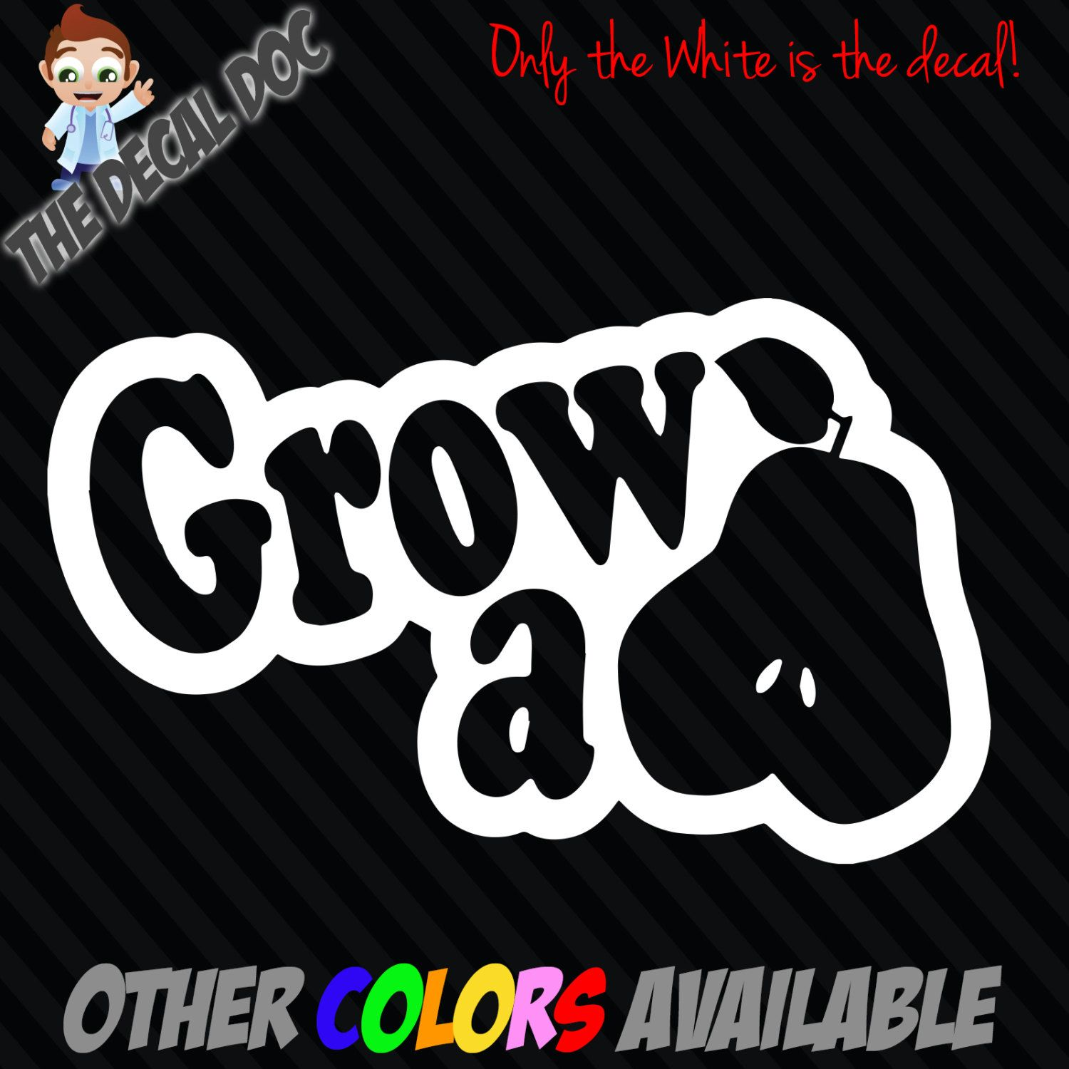 GROW A PEAR Jdm Funny Car Vinyl Decal Sticker Window Pair Truck - Car window decal stickers for guys