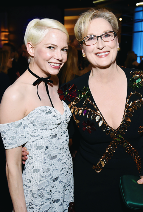 With Michelle Williams
