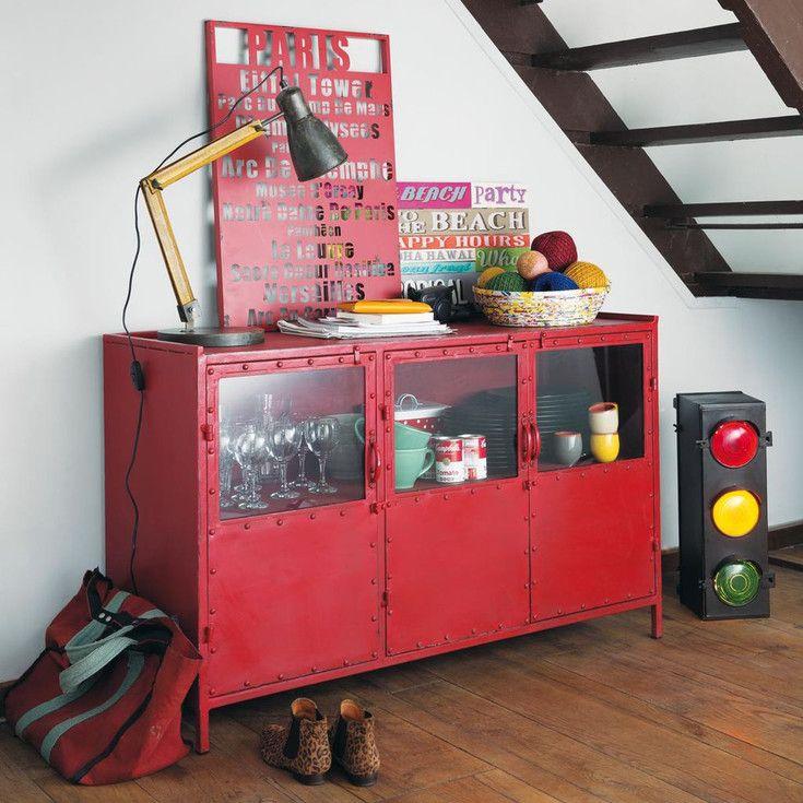 meubles et d coration de style industriel loft factory maisons du monde d coration. Black Bedroom Furniture Sets. Home Design Ideas