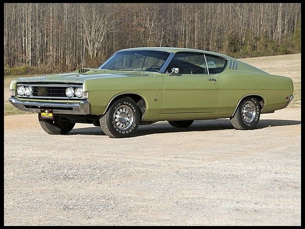 Ford Torino Cobra This Is The Car I Owned Same Color Only It Had A Black Stripe With Black Leather Interior