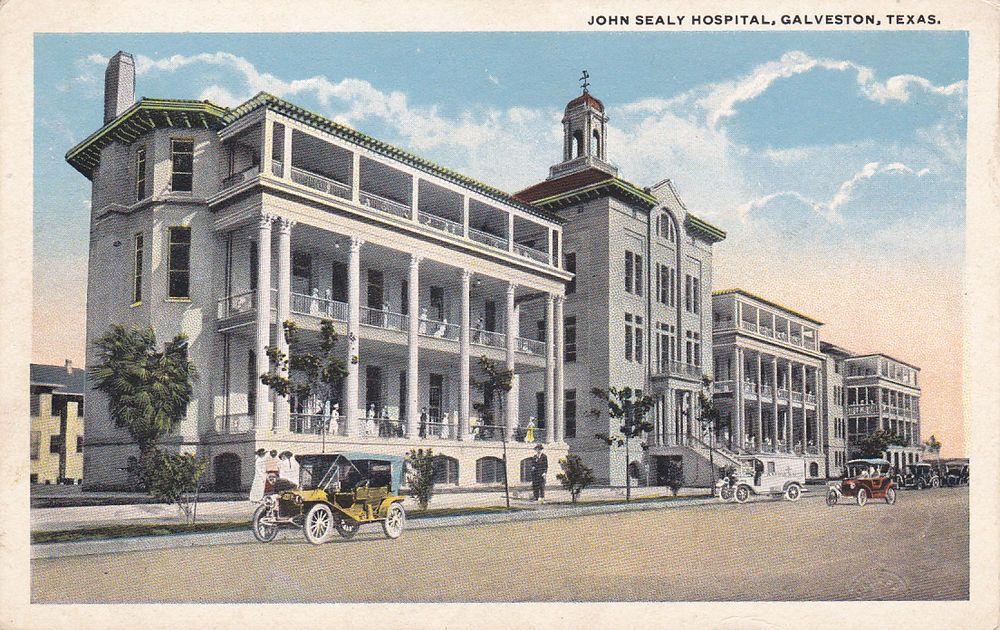 GALVESTON, Texas, 19001910's; John Sealy Hospital