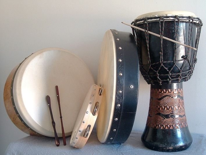 Image result for instrument made by animal skin