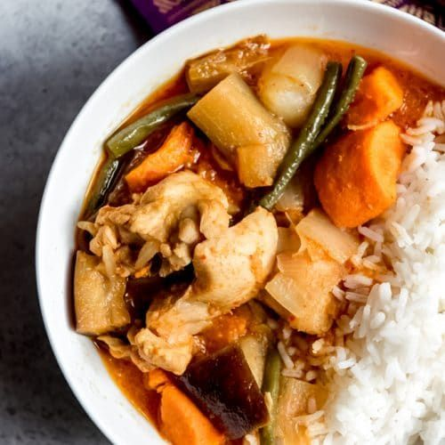 Cambodian Chicken Red Curry [Somlar Kari Saek Mouan] #chickenkabobmarinade