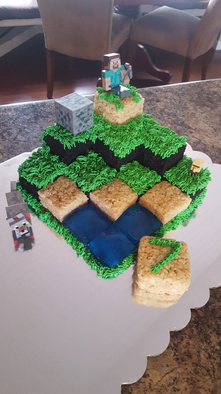 Minecraft cake birthdays Pinterest Minecraft cake Cake and