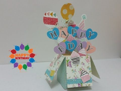 Diy10 3d How To Make Happy Birthday Pop Up Box Card Youtube