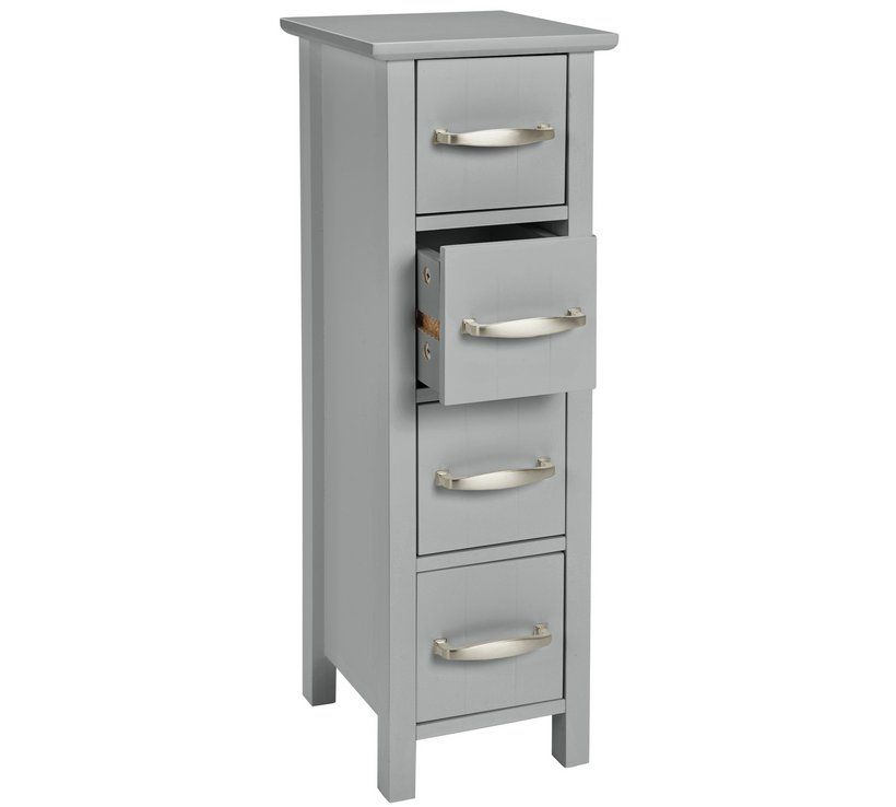 Buy Argos Home Tongue Groove 4 Drawer Slimline Unit Grey Bathroom Shelves And Storage Units Bathroom Storage Units Bathroom Shelves Bathroom Shelf Decor
