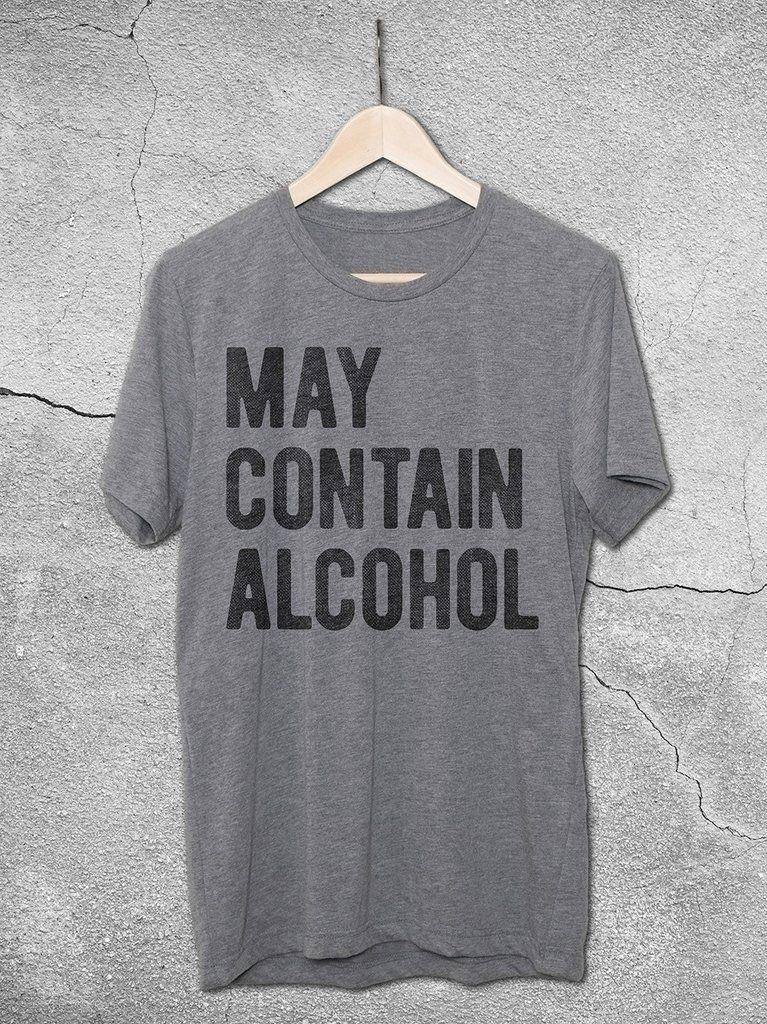 268260fb May Contain Alcohol Shirt   Funny Vintage-Style Graphic Tees – Hello Floyd  - Drinking