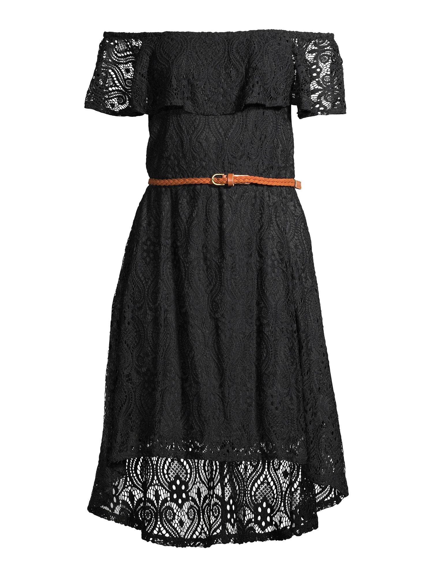 No Boundaries No Boundaries Juniors Off The Shoulder Lace Dress Walmart Com Lace Dress Dresses Spring Outfits [ 2000 x 1500 Pixel ]