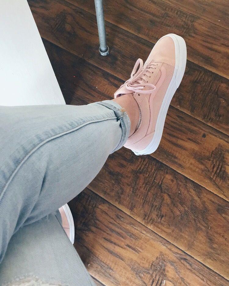 Old Skool Pink Suede Vans | Pink suede