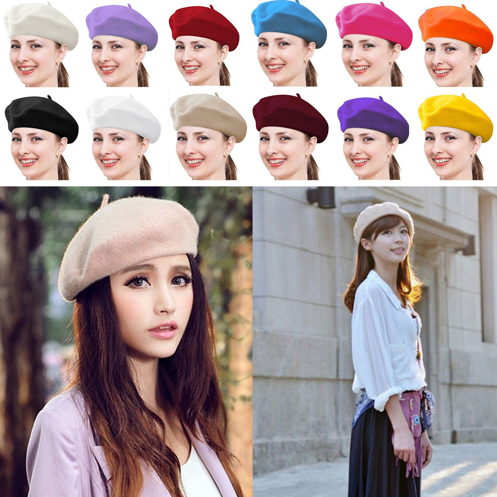 c2b53dc7bc2cc Fashion Warm Wool Winter Women Girl Beret French Artist Beanie Hat Ski Cap  Gift Price   3.39 Ends on   2 hours View on eBay