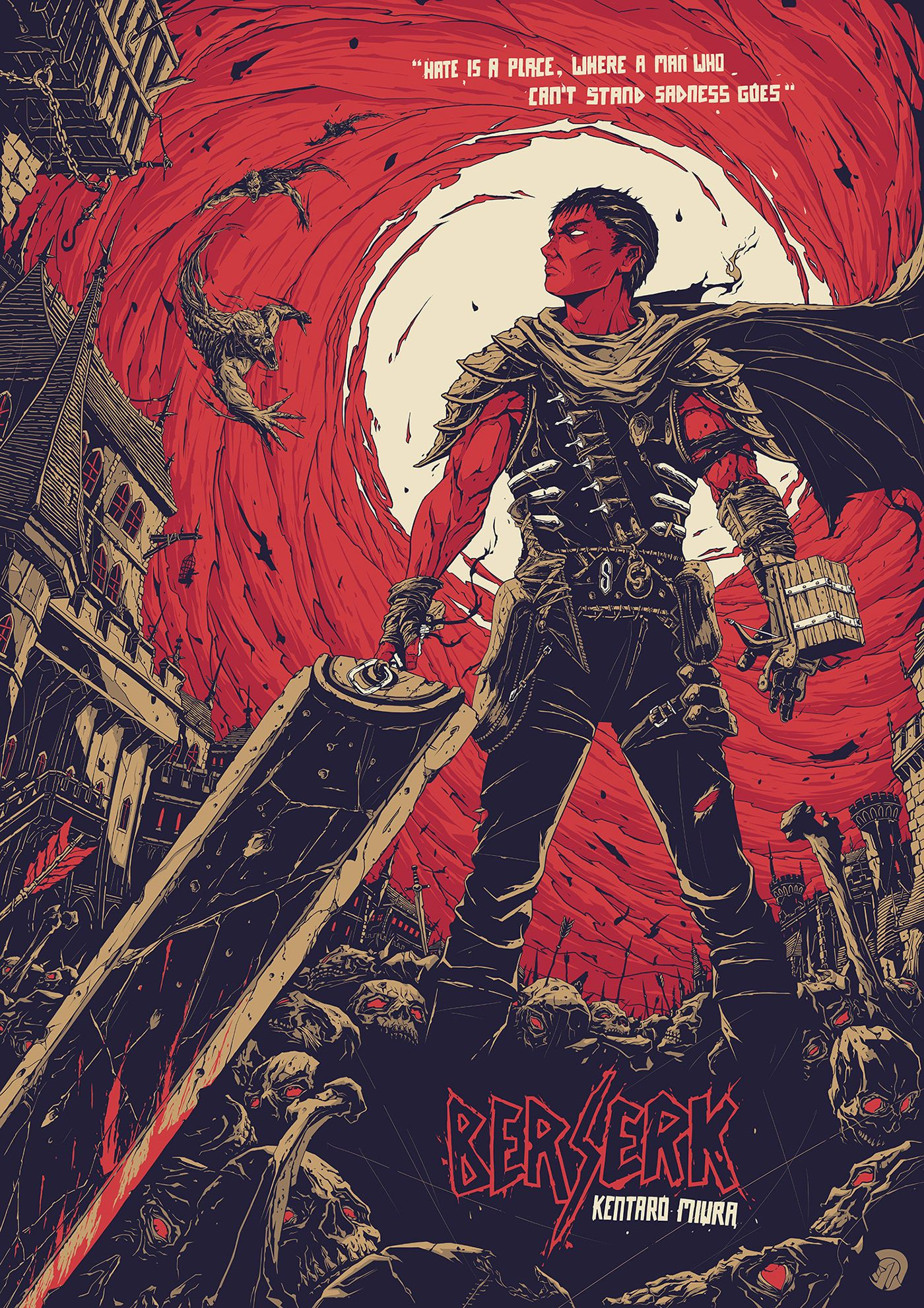 Berserk Poster on Behance (With images) Berserk