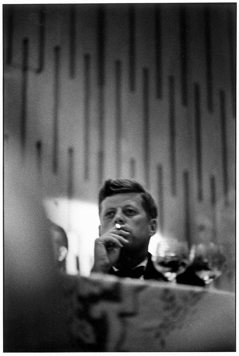 JOHN F. KENNEDY, LOS ANGELES, CALIFORNIA, 1960   by Elliott Erwitt