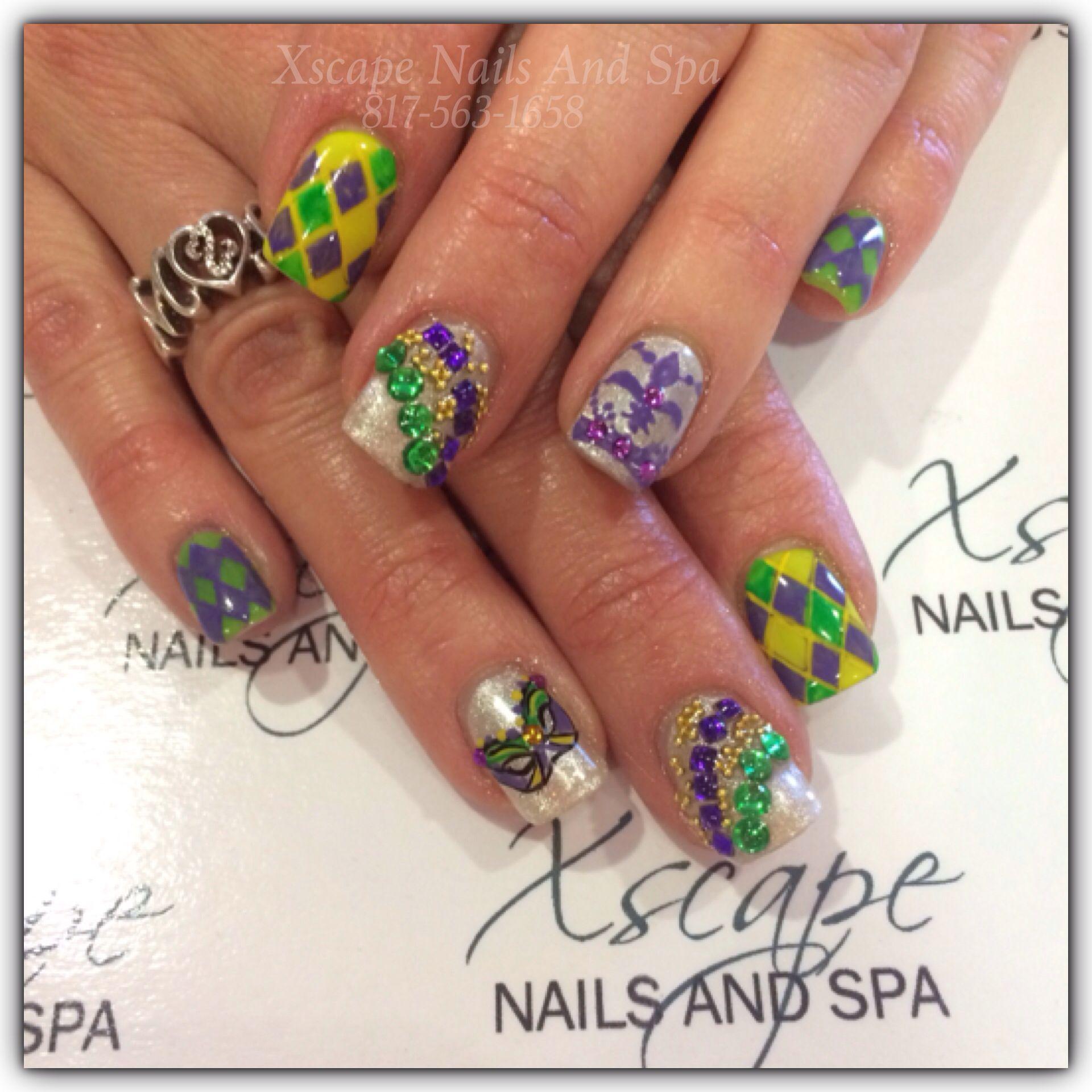 Mardi Gras Nails | Cute Nails Designs | Pinterest | Mardi gras ...