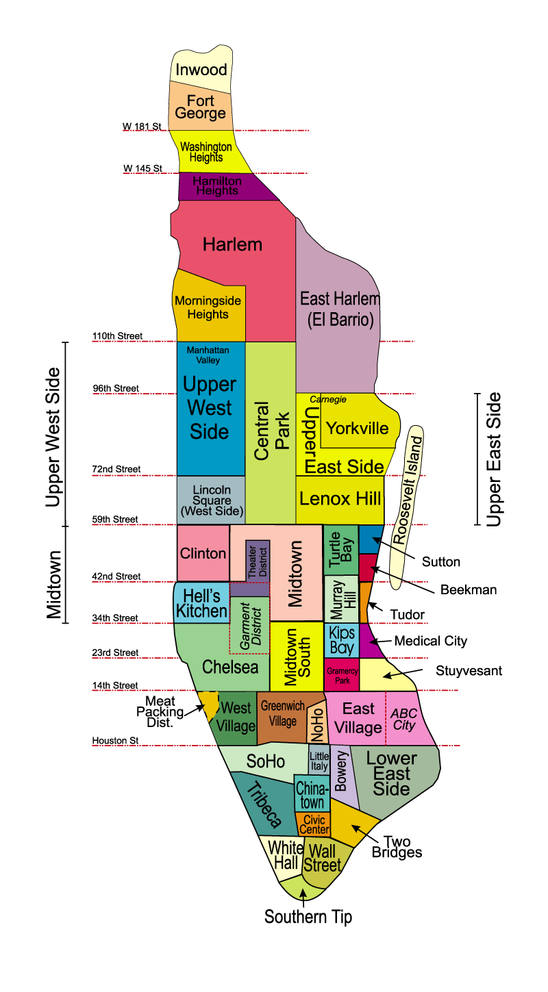 Map Of NYC  Boroughs Neighborhoods New York Neighborhoods Cool - Nyc map of boroughs