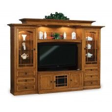 Amish Manhattan Mission Classic Entertainment Center The Manhattan Is  Everything Youu0027re Looking For In A Home Entertainment Center.