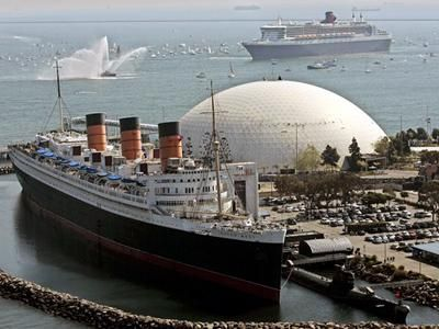 Queen Mary With Queen Mary 2 In The Back Ground Long Beach