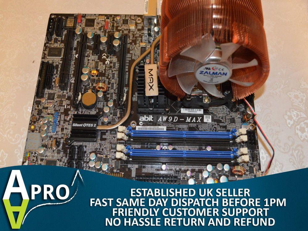 WORKING - ABIT AW9D-MAX, LGA 775/Socket T, Intel Motherboard