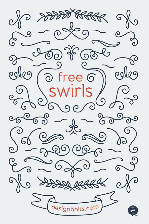 Free Decorative Vector Swirls