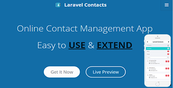 Laravel Contact – Online Contact Management App | Code