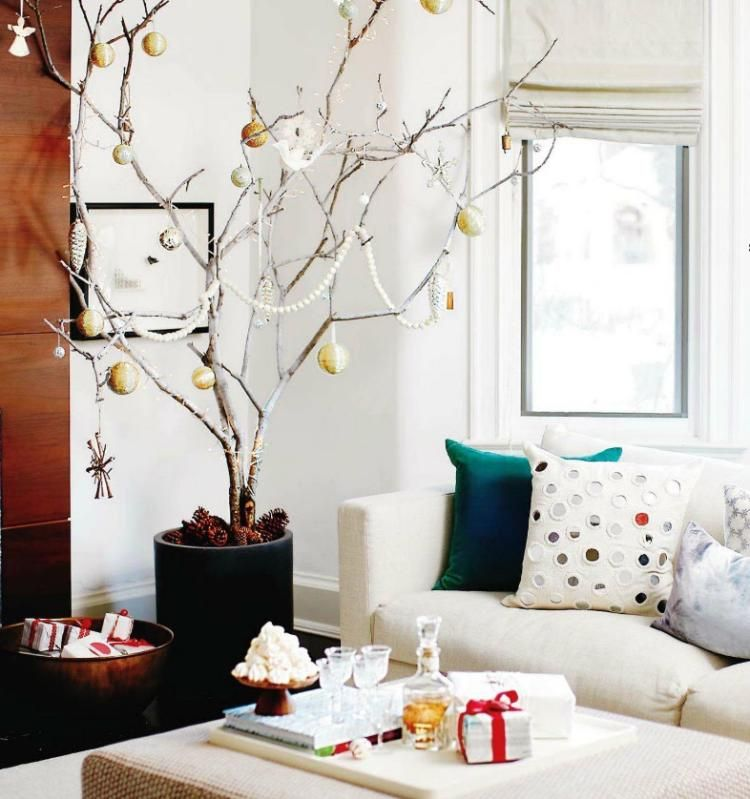 Decoration De Sapin Avec Guirlande Plume