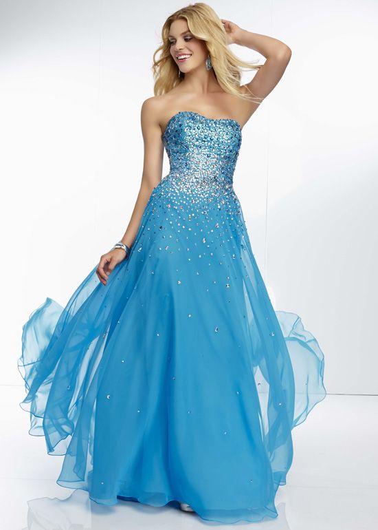 Blue Ombre Prom Dress - Ocodea.com